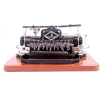 LD&P Modelo de máquina de escribir retro Decoración accesorios fotográficos decoración decoración muebles para el hogar