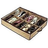 Tessuto Cozyswan 12 paia scarpe sotto il letto salvaspazio Organizer per armadio supporto scatola custodia