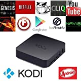 QcoQce MXQ Amlogic S805 Quad Core Smart Tv Box Android 4.4 Kitkat System H.265 Wifi LAN Miracast Airplay Streaming Media Player 1G RAM 8G ROM