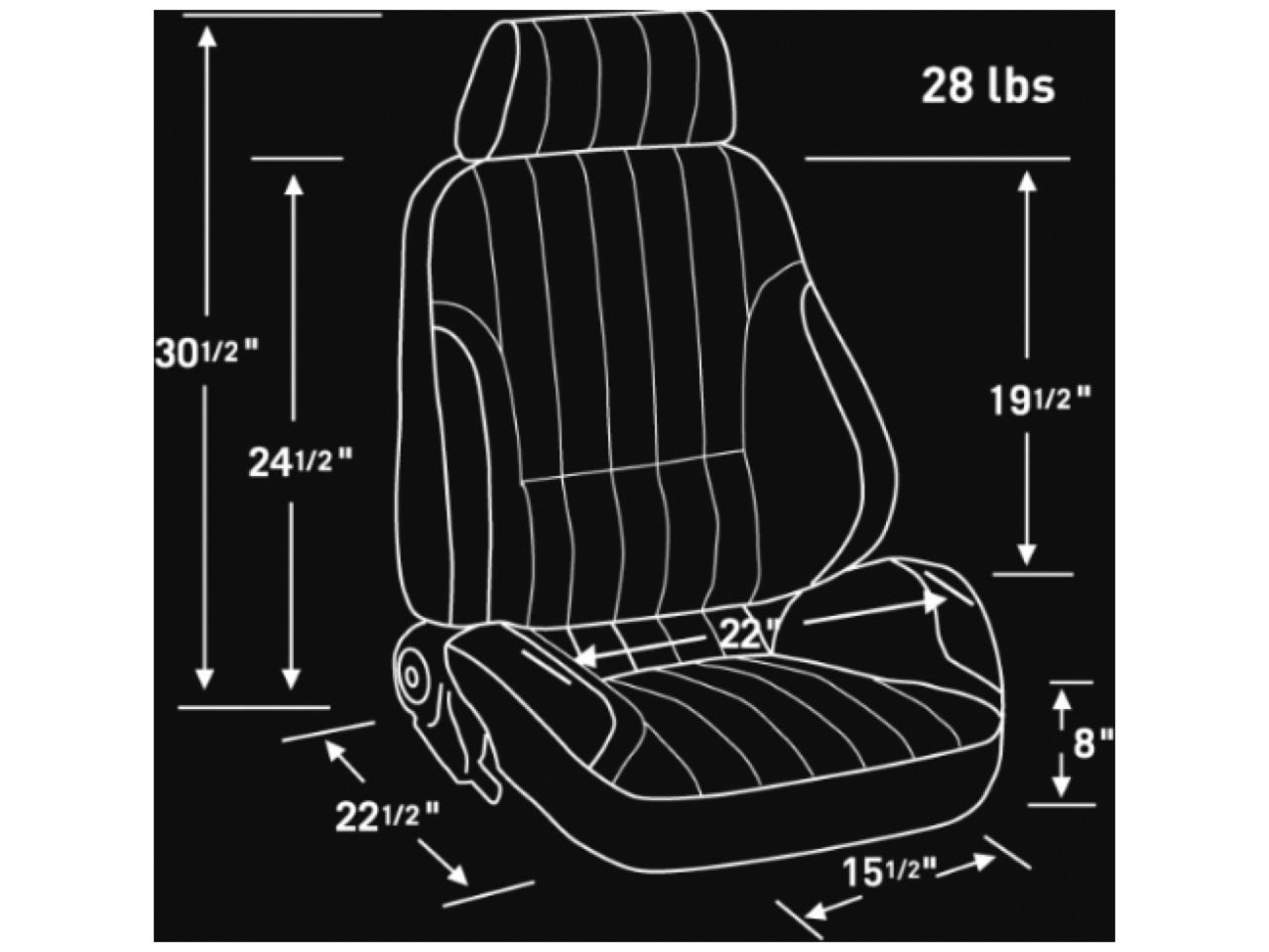 Scat 80100051L Rally Recliner Left Black Vinyl