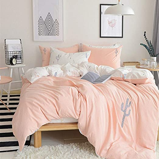 KING SIZE FLANNELETTE SHEET SET OFF WHITE HEARTS PEACH 100/% BRUSHED COTTON