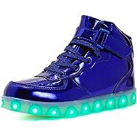 Goodtimeshow 2019 Zapatos con luz LED de Carga USB para niños y niñas, 5 Colores