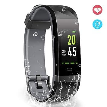 YoYoFit Pulsera de Actividad, Desire Pulsera Inteligente Pantalla Color Reloj con Pulsómetro Impermeable IP68 Monitor de Ritmo Cardíaco Podómetro Deportiva ...