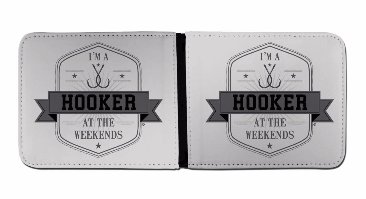 Fishing Wallet & Card Holder Gifts for Fisherman Im A Hooker At The Weekends Wallets for Men