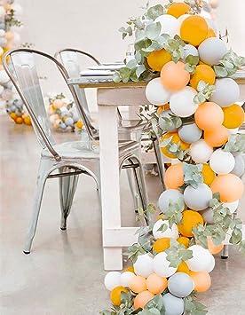 Partywoo Blanc Orange Gris Peche Ballon Baudruche 80pcs 12