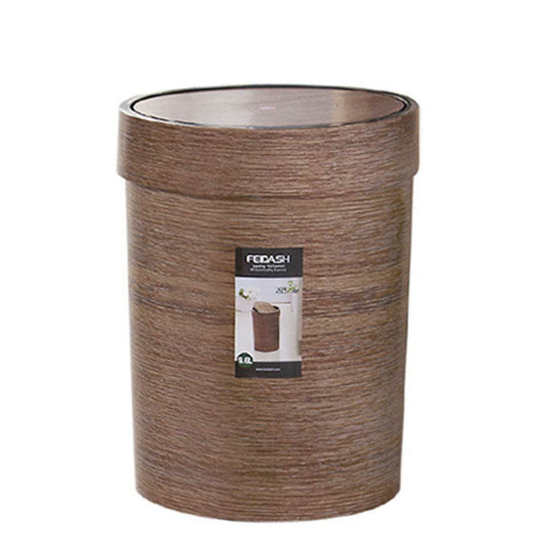 PHYNEDI Papelera Cubo de Basura de pl/ástico Papelera de ba/ño 9.6L Papelera de Oficina Cocina