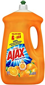 Ajax Triple Action Dish Liquid, Orange, 90 Ounce