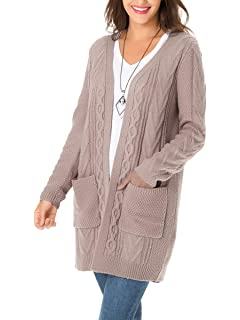 fe46fc062 Amazon.com  Ray JrMALL Women s Long Sleeve Open Front Cardigans Mid ...
