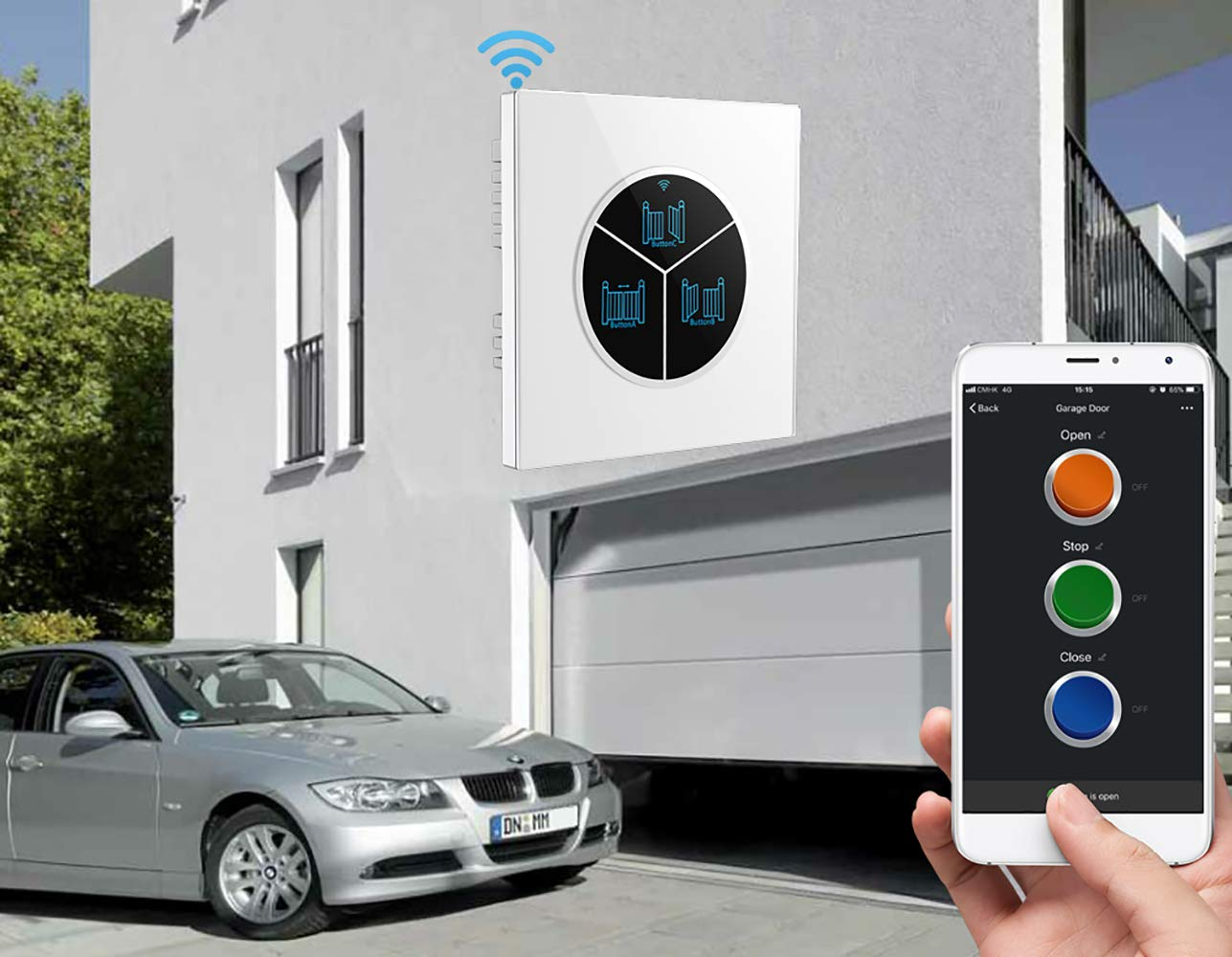 Wireless Garage Door Opener Remote WiFi Switch Universal Controlled by Smartphone for Automatic Gate Opener System (Without Door Sensor) - - Amazon.com