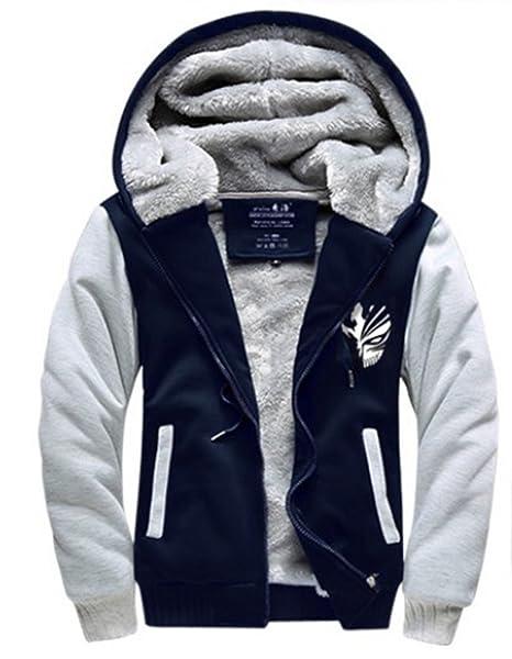 NiSeng Uomo Felpe Giacche Invernali Velluto Spesso con Cappuccio Zip  Cappotto Hooded Sweatshirt Giacche  Amazon.it  Abbigliamento 7fb69004e59
