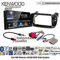 Volunteer Audio Kenwood DDX9704S Double Din Radio Install Kit with Apple Carplay Android Auto Fits 2012-2015 Fiat 500 (Black)