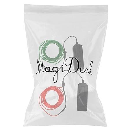 MagiDeal 2pcs 3m Lumineszenz Neon LED Lichter El Draht Saite Neon ...
