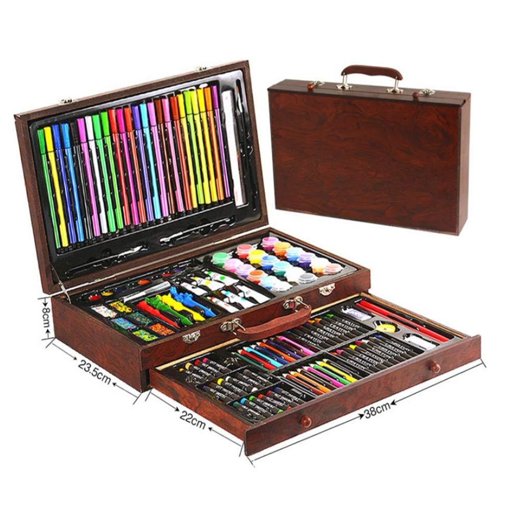 Kunsthandwerk-Set für für für Kinder 130 Piecs Inspiration Kunst Set Zeichnung Und Skizze Farbe Bleistift Crayon Fall Malerei Set Farbgrafik Zeichnung Malerei (Farbe : Braun) 38dd03