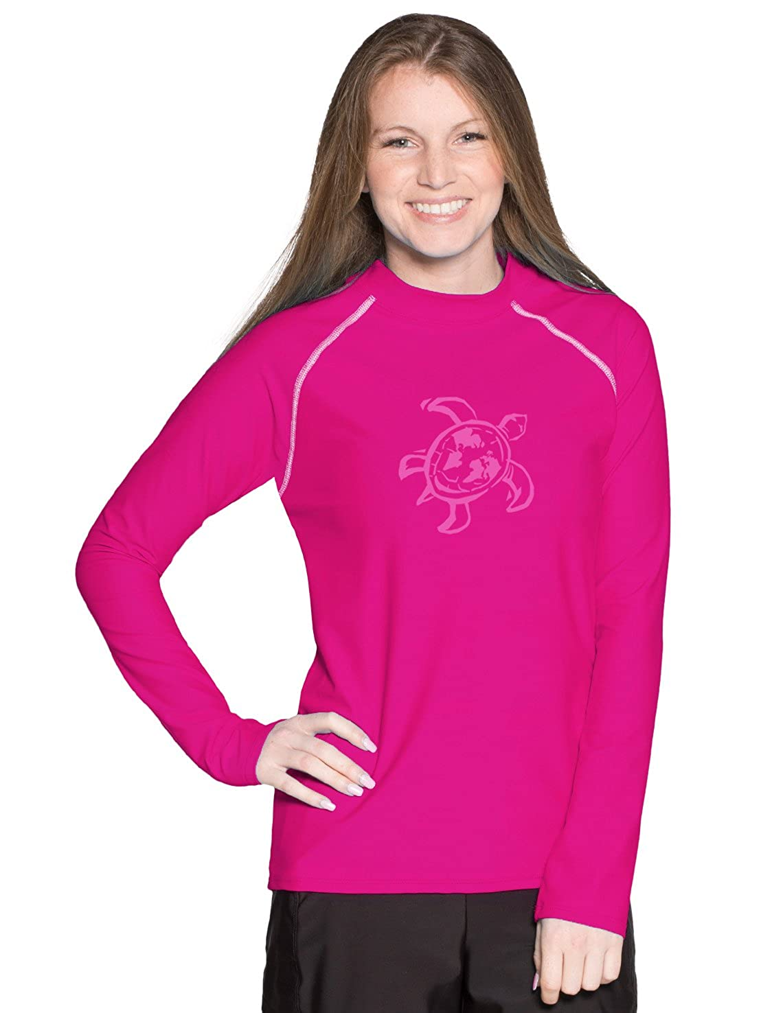 Tuga Unisex Adult Long Sleeve Rash Guard UPF 50 Sun Protection Swim Shirt