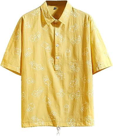 Camisetas Hombre, Verano Polo Camiseta Manga Corta Color sólido ...