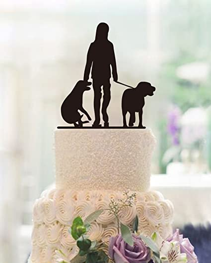 Amazon Cake Topper With Two Dogs Design Personalized Dog Lover