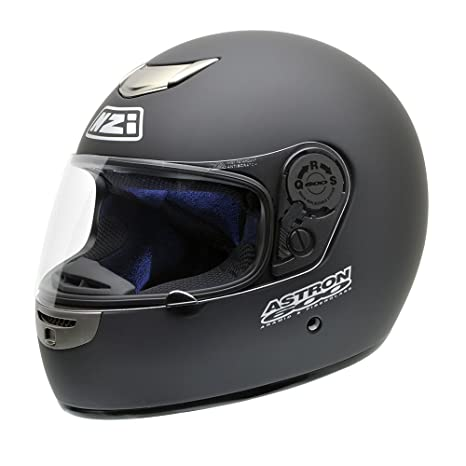 NZI Astron 600 Casco de Moto, Negro Mate, 54 (XS)
