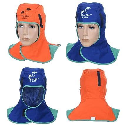 4Pcs Flame Retardant Safey Helmet Welding Neck Hood Welder Head Cap Cover