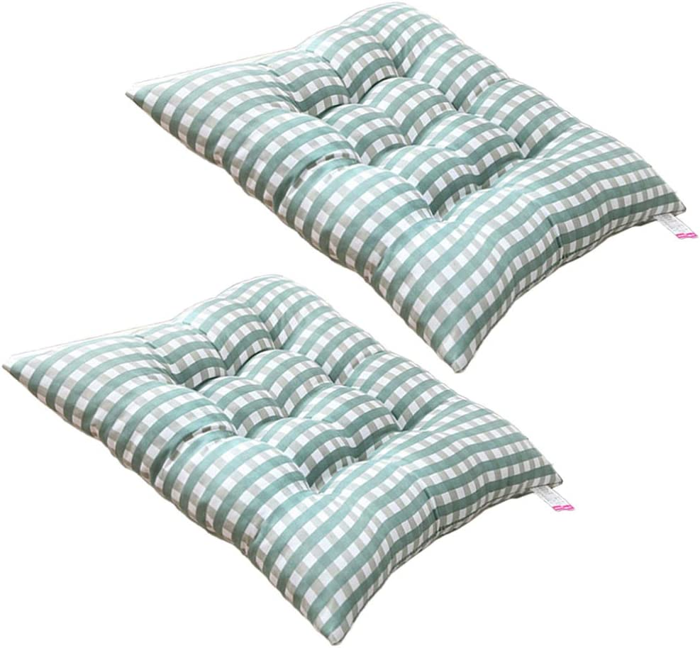 Blu VOSAREA 2 Pezzi Quadrati Cuscini per sedie Plaid coprisedili Morbidi Cuscini per sedie per Home Office Ristorante 40 cm
