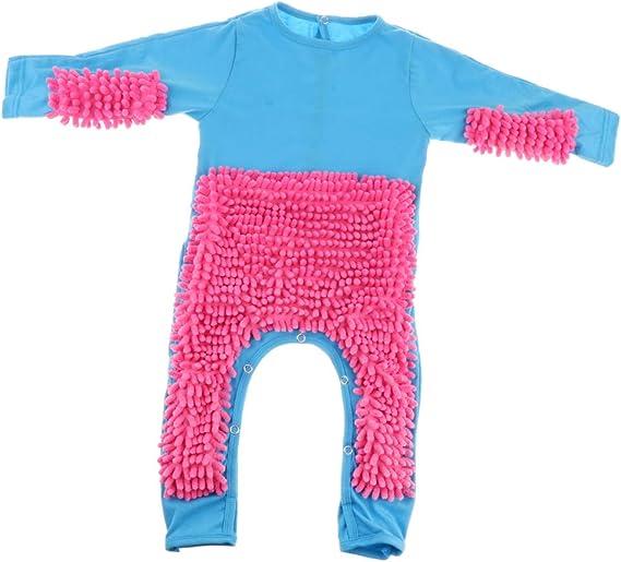Lustiger Baby Kleidung Wischmop wischen Boden Strampler Overall Jumpsuit zum