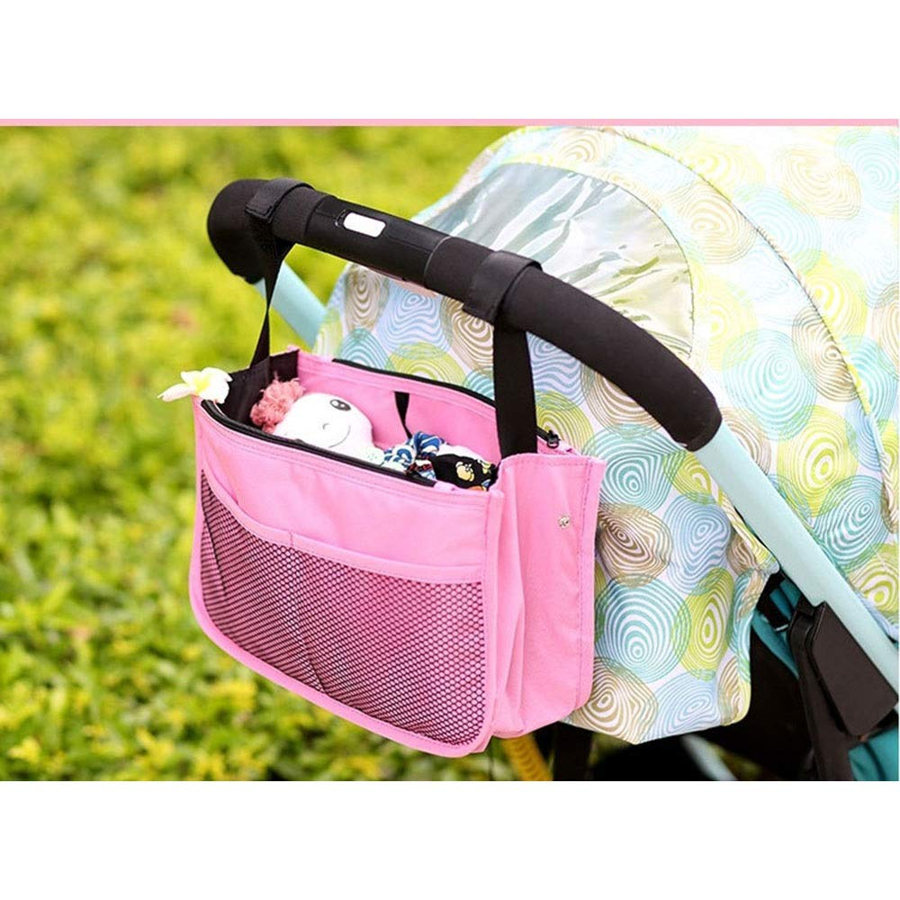 LORGDFDF Practical Multi-Function Baby Stroller Organizer Bag Cosmetic Bag for Women Lots of Space Light and Durable Pink is A (Color : Pink, Size : Free Size) by LORGDFDF (Image #7)