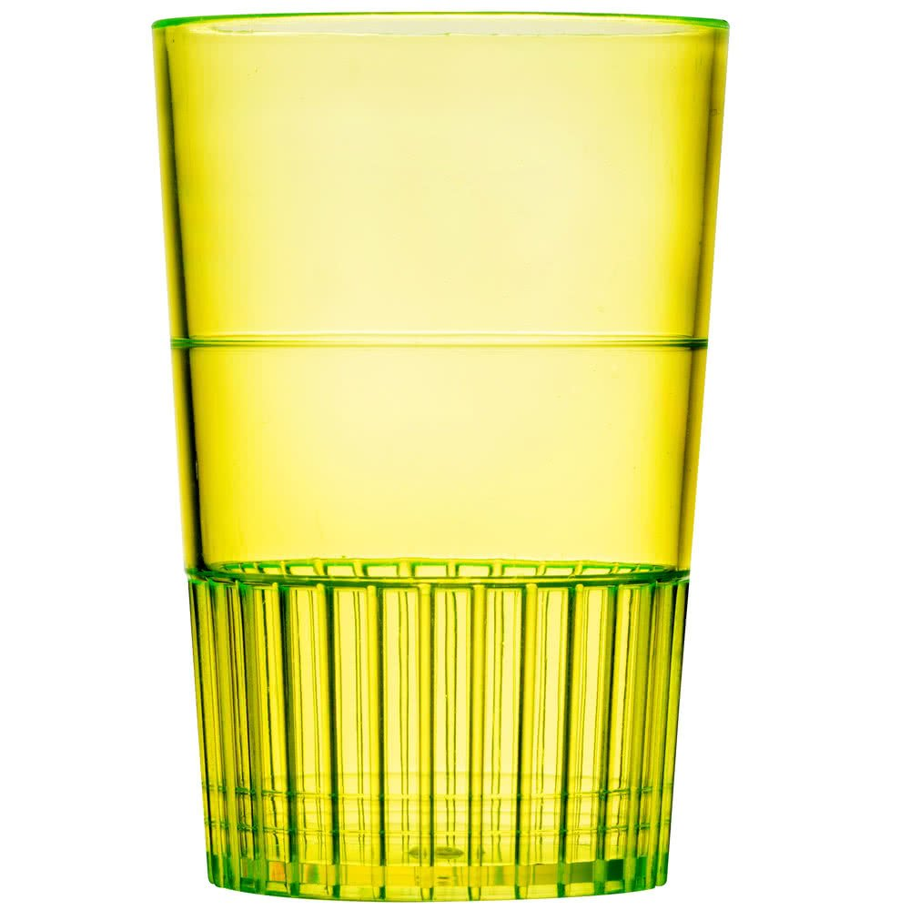 Fineline Quenchers 4115-Y 1.5 oz. Neon Yellow Hard Plastic Shooter Glass - 500/Case by Fine-line