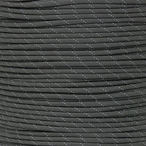 (PARACORD PLANET 250' Spool Nylon 550lb Type III 7 Strand Paracord Reflective Olive Drab)