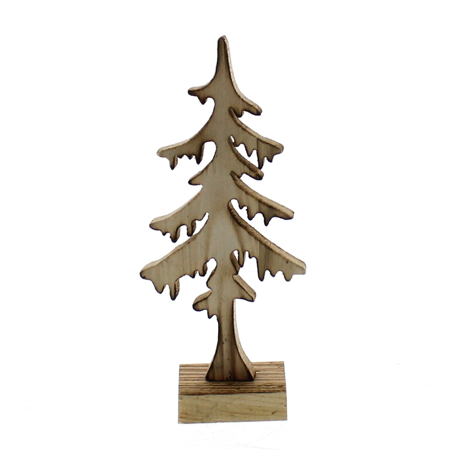 Set 3 Rustic Wood 8'' Cutout Trees | Winter Holiday Statue