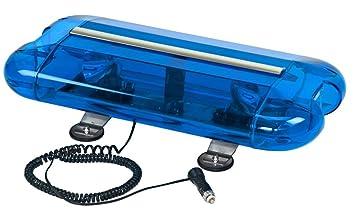 Amazon wolo 3555m b aurora halogen emergency warning mini wolo 3555m b aurora halogen emergency warning mini light bar blue lens aloadofball Gallery
