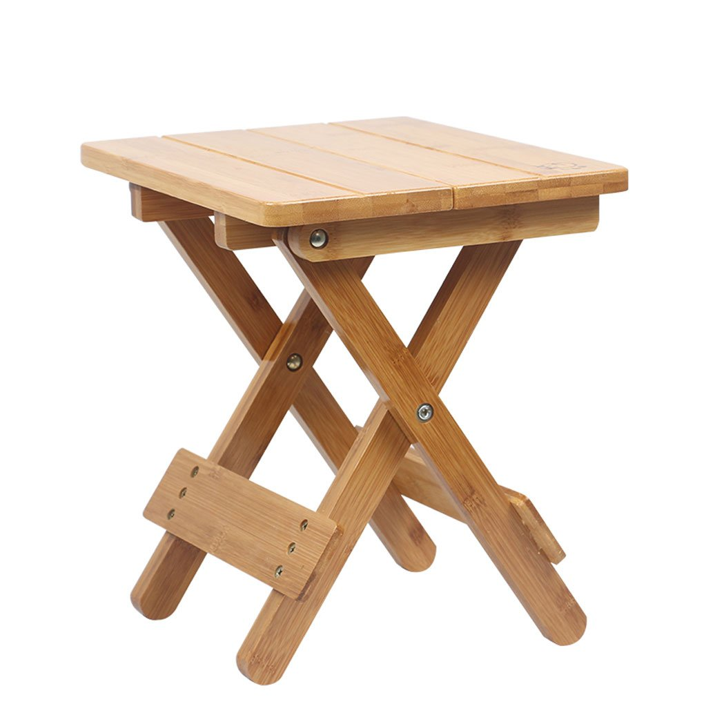 LFFYIZI HJHY Bamboo Folding stool Portable Household Solid wood Mazar outdoor Fishing chair Small bench Square stool correct sitting posture (Color : #1) HAOJIAHAOYE