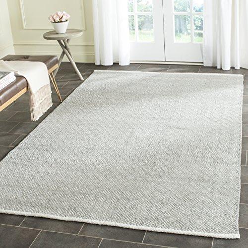 Safavieh Boston Collection BOS680E Handmade Grey Cotton Square Area Rug (8' Square)