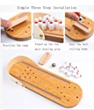 Halloluck Mini Bowling Game Mini Wooden Desktop