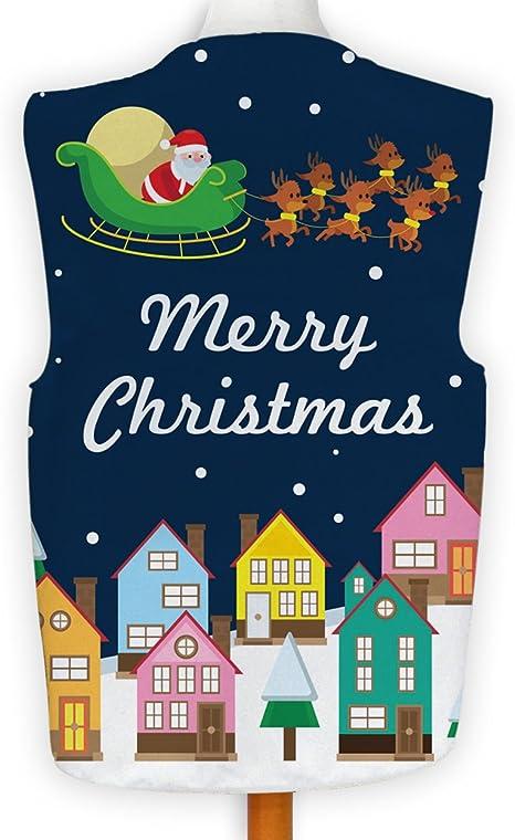 Merry Xmas Waistcoat Red Santa /& Rudolph Fancy Dress Novelty Gift Idea Party