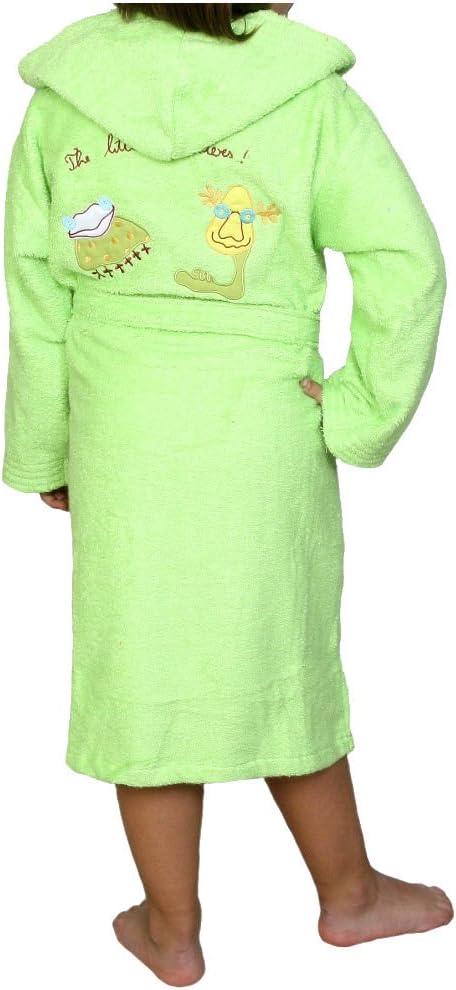 Albornoz Infantil, Rizo, 100% algodón, Verde. (10): Amazon.es: Hogar