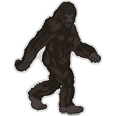 Bigfoot Sticker | Stroll Die-Cut Shaped Label | Folklore Creature Legend | I believe hunting searching for Sasquatch Yeti | Use on Water Bottle Decal for Sign Toy Book Sock Present TShirt Earring: Automotive