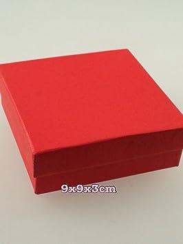 Juego de 12 rojo para joyas cajas de regalo anillo collar cajas regalo a granel al