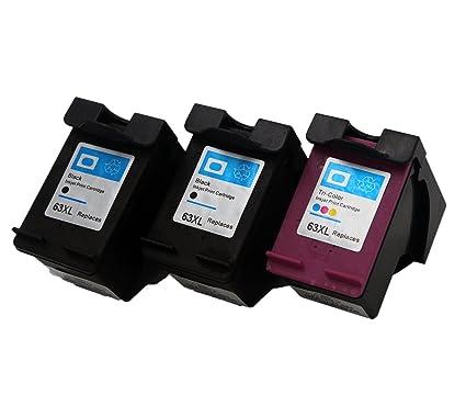 yatunink 3 Pack - para HP 63 X L negro Cartucho de tinta ...