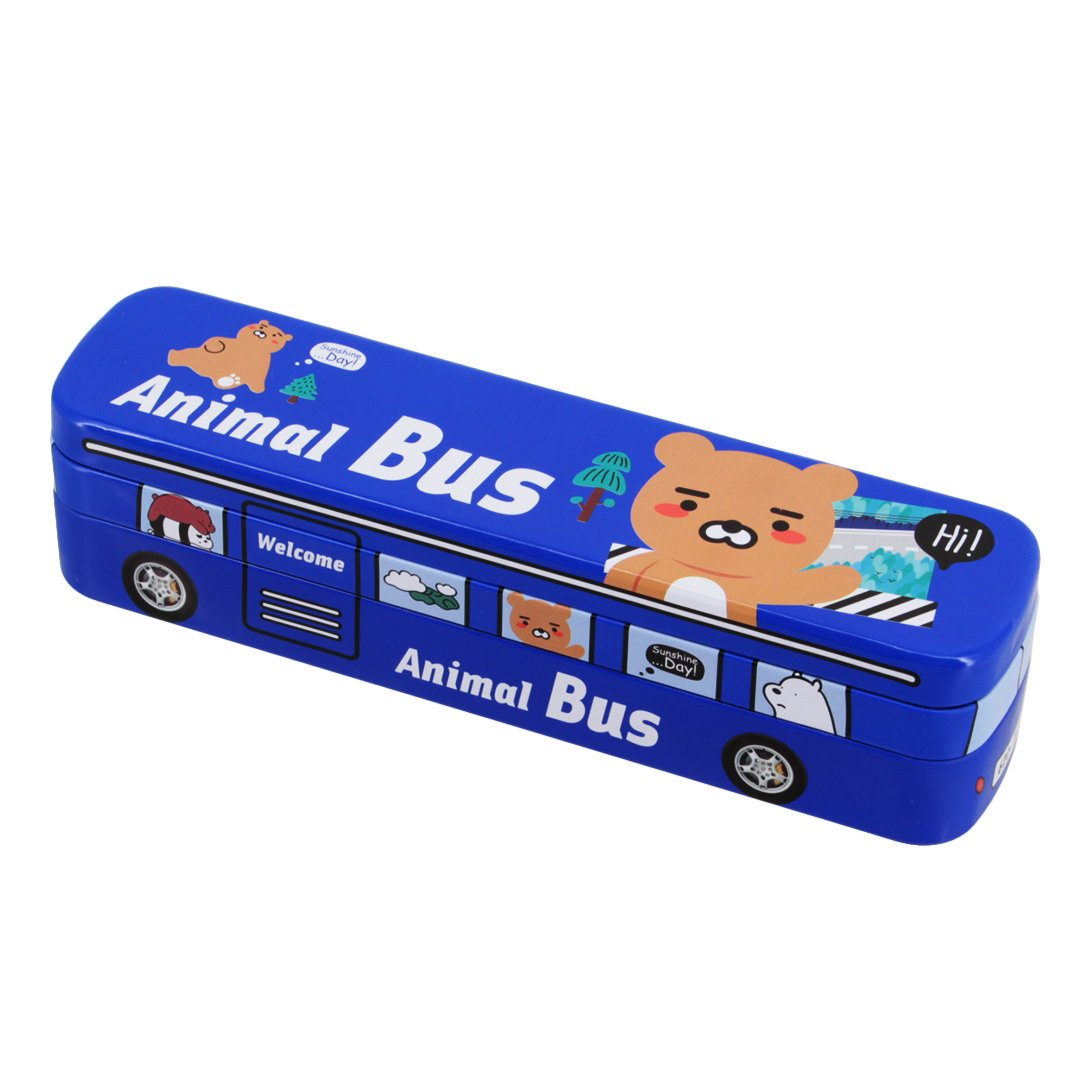 Multifit Boys Multi-Functional Racing Animal Bus Pencil Case Stationery Box Pencil Holder Storage(Dark Blue) by Multifit