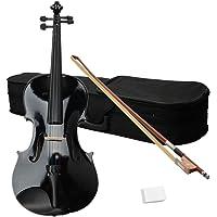 "Getmore Elegant Wood & Metal 16"" Acoustic Viola with Case Bow Rosin Black"