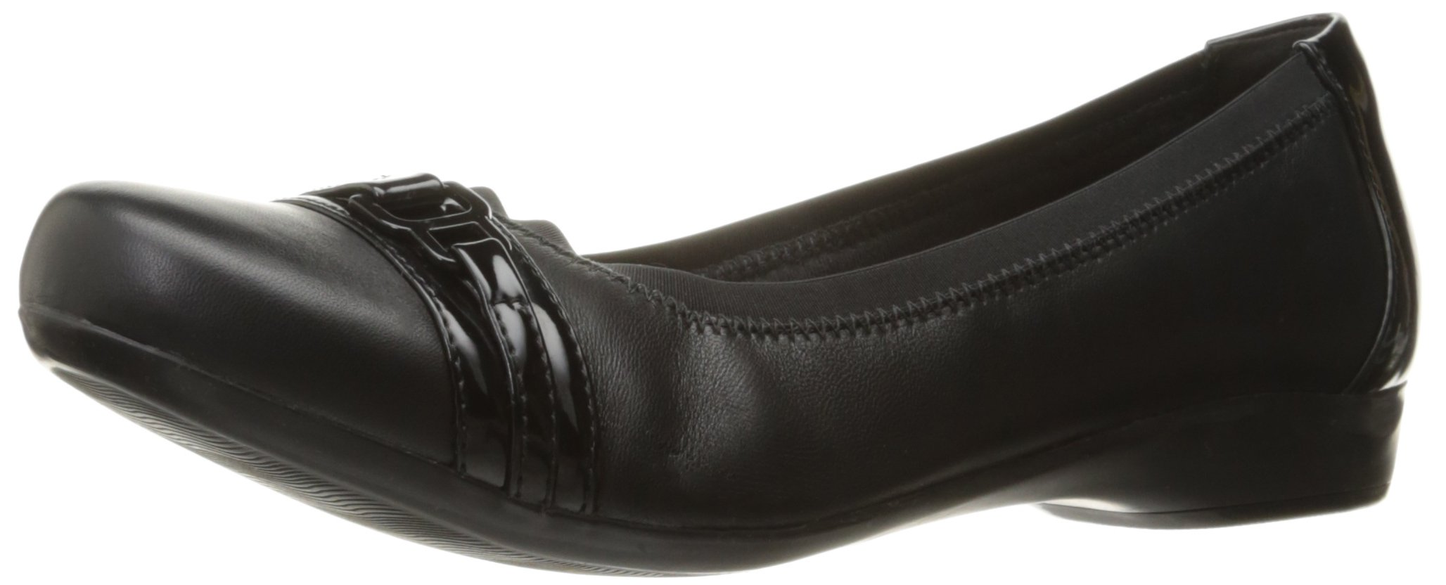 CLARKS Women's Kinzie Light Flat, Black Combi, 8 M US