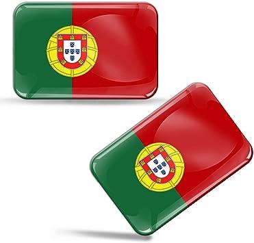 Biomar Labs 2 X Aufkleber 3d Gel Silikon Stickers Portugal Portugiesisch Flagge Fahne Flag Auto Motorrad Fahrrad Fenster Tür Pc Handy Tablet Laptop F 30 Auto