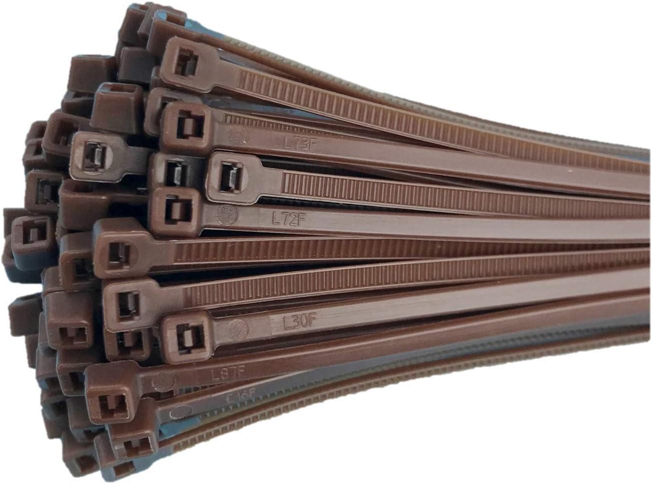 Fix/&Easy Attaches de c/âble Ensemble Gris Argent Anthracite 2,5 x 200 mm 50 pi/èce pour Vent Protection Brise-Vue pour Balcon Jardin et terrasse Grillage de Cl/ôture Fil