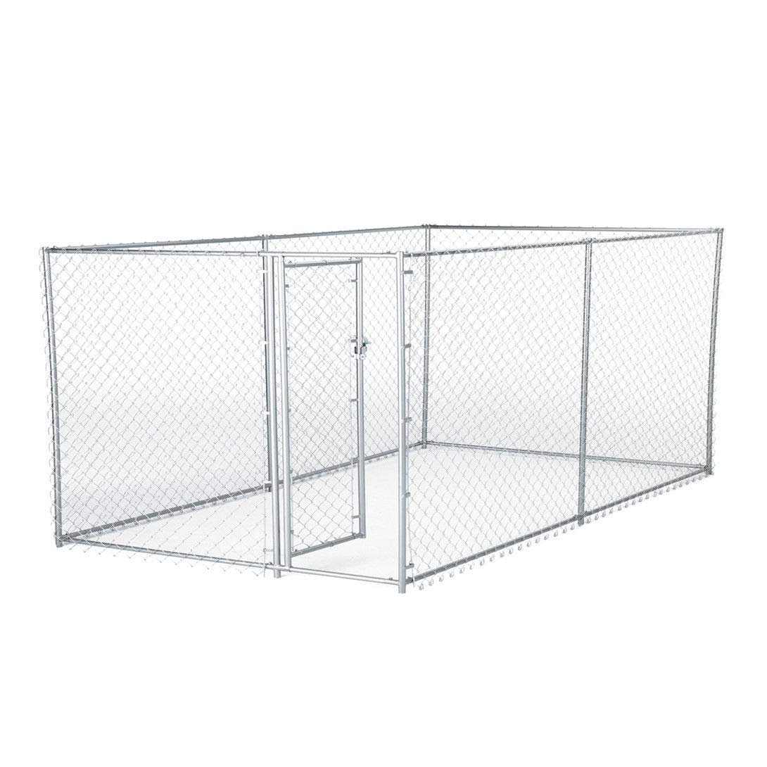 zwan 10 x 5 x 4 Foot Heavy Duty Outdoor Chain Link Dog Kennel Enclosure with Ebook