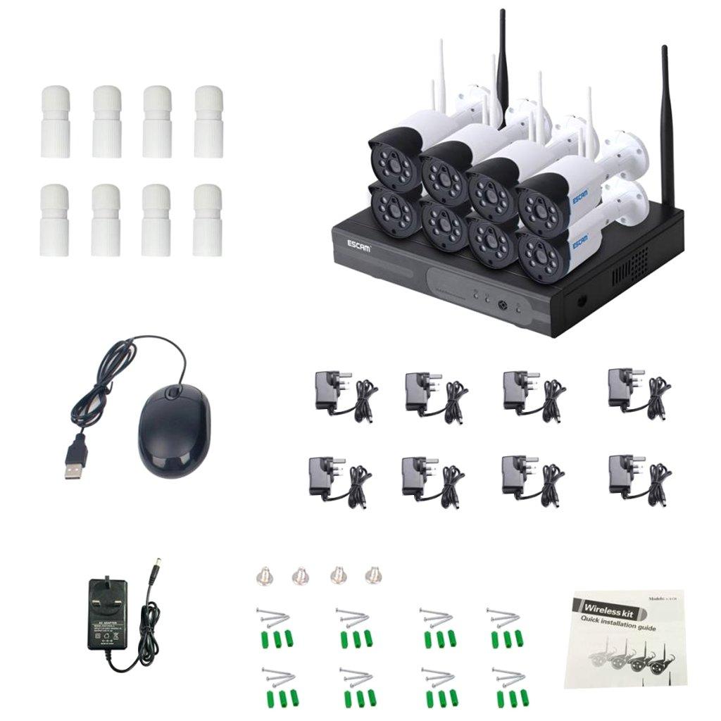 Schema Collegamento Nvr : Magideal escam wnk p hd sistema cctv ch wireless nvr