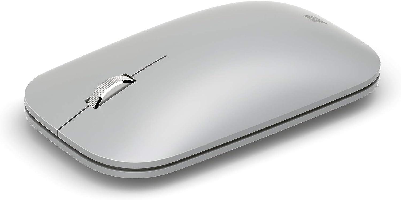 Microsoft Surface Mobile Mouse - Ratón (Ambidextro, Bluetooth, Platino)