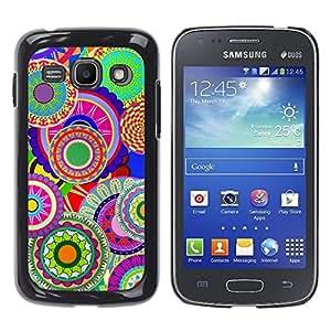 TECHCASE**Cubierta de la caja de protección la piel dura para el ** Samsung Galaxy Ace 3 GT-S7270 GT-S7275 GT-S7272 ** Colorful Pattern Art Wallpaper Psychedelic