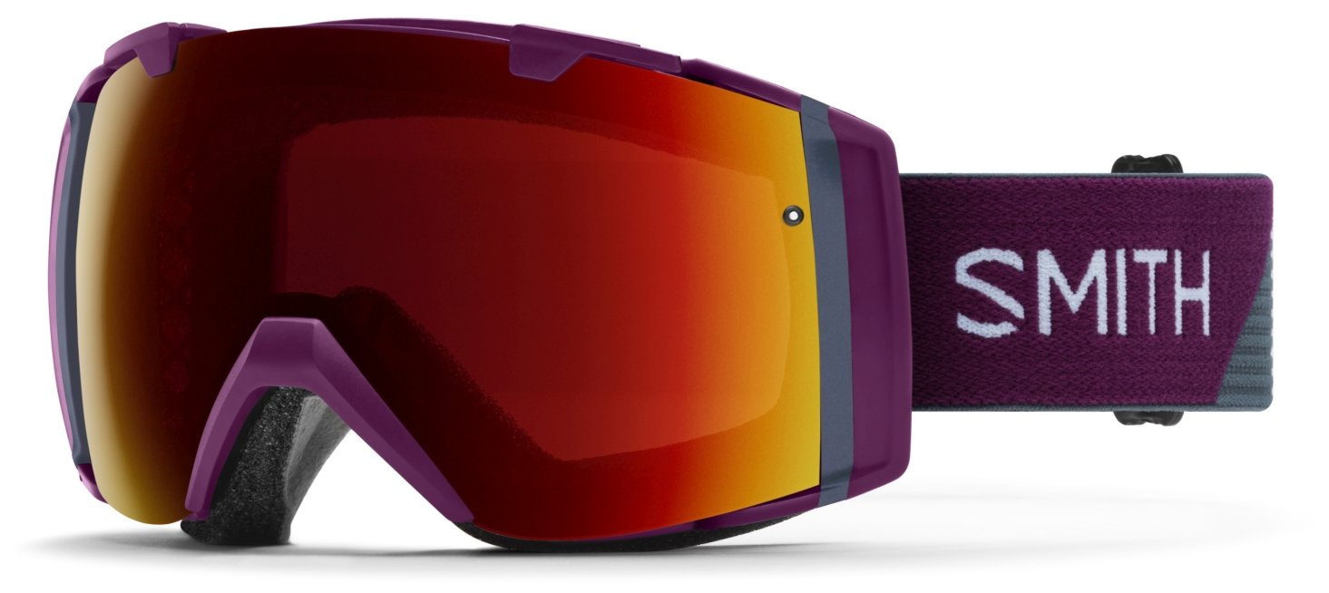 Smith Optics Adult I/O Snowmobile Goggles Grape Split / ChromaPop Sun Red Mirror by Smith Optics