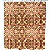 Uneekee Ethno Behind Bars Shower Curtain: Large Waterproof Luxurious Bathroom Design Woven Fabric