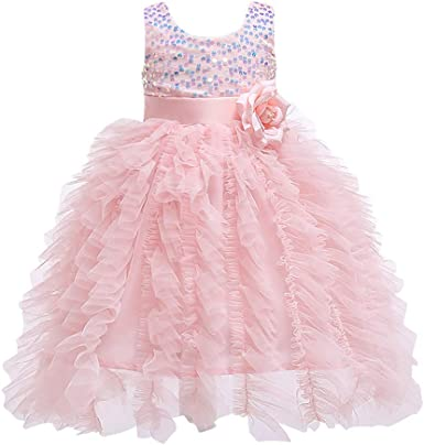 Toddler Baby Girl Kid Long Sleeve Backless Dress Christmas Party Pageant Dresses