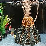 5 gallon aquarium light hood - Wffo Aquarium Volcano Shape & Air Bubble Stone Oxygen Pump Fish Tank Ornament Decor (Multicolor)